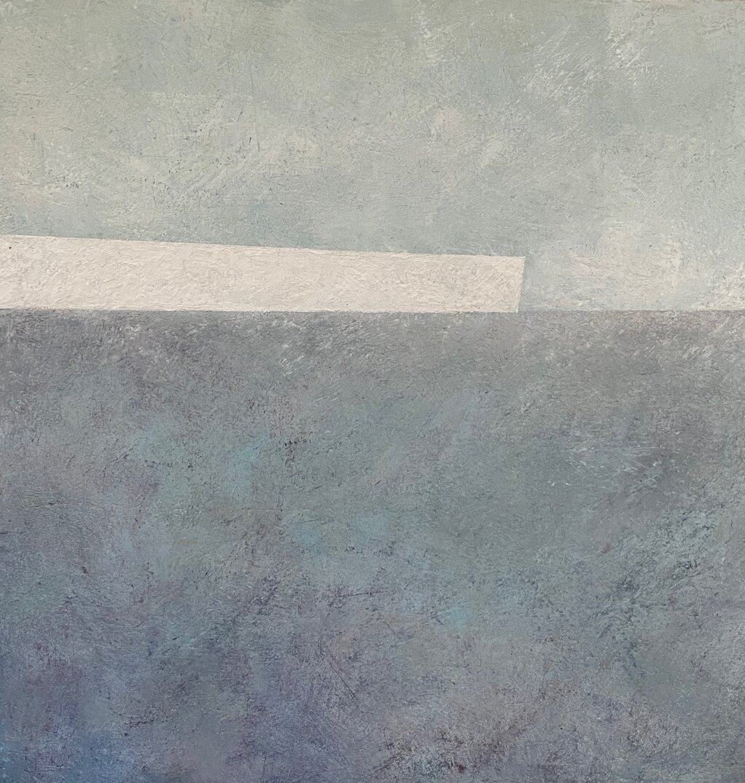 arctic blue encaustic on panel 24x24