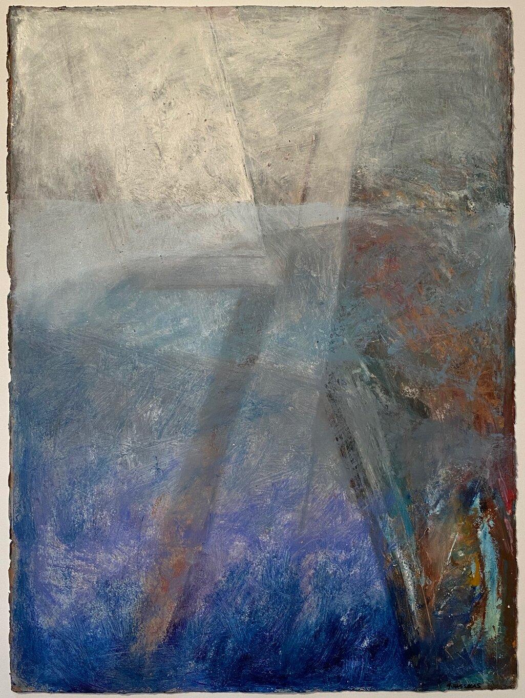arctic shards i encaustic on paper 30x22-r