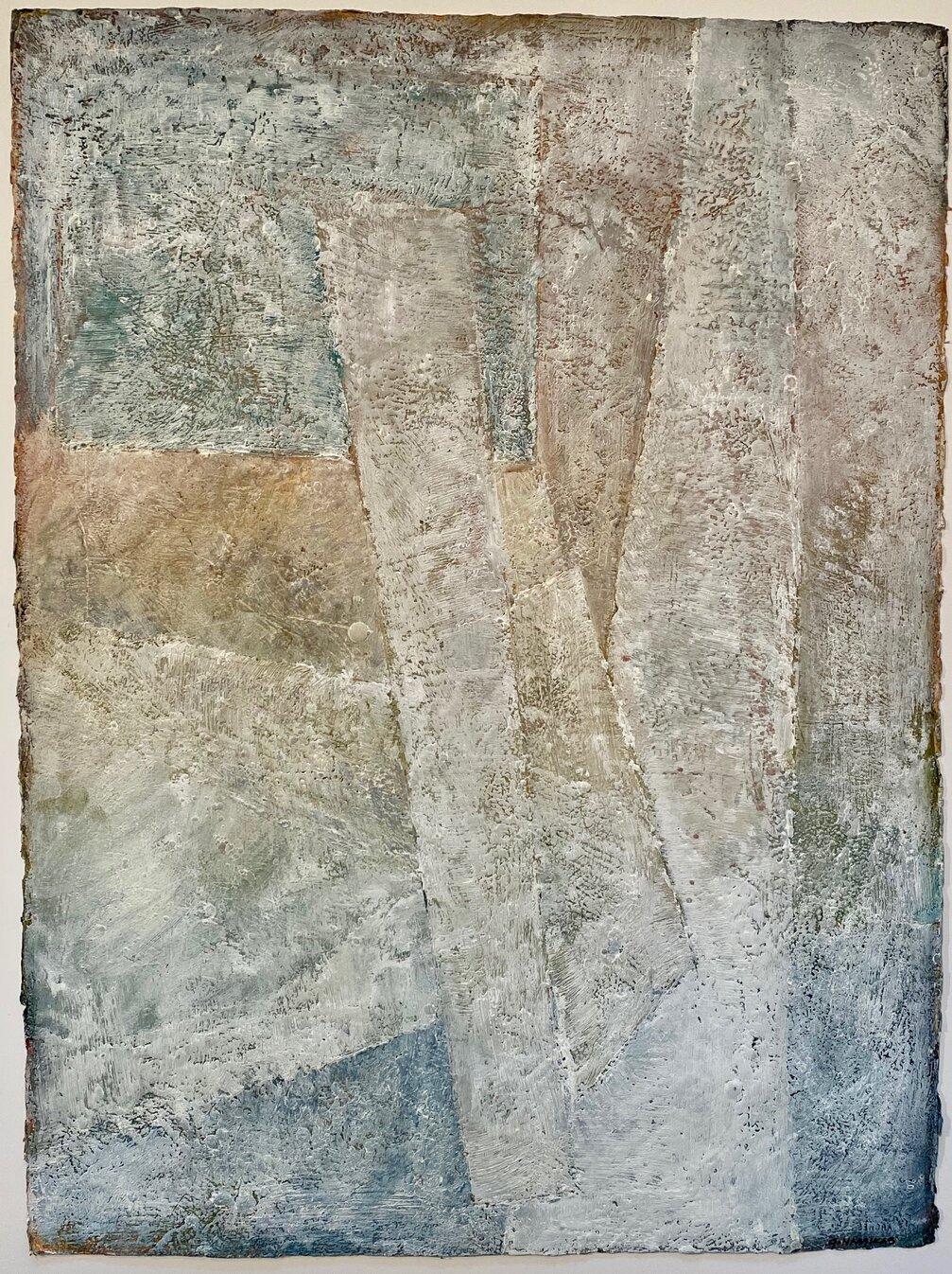 arctic shards iii encaustic on paper 30x22