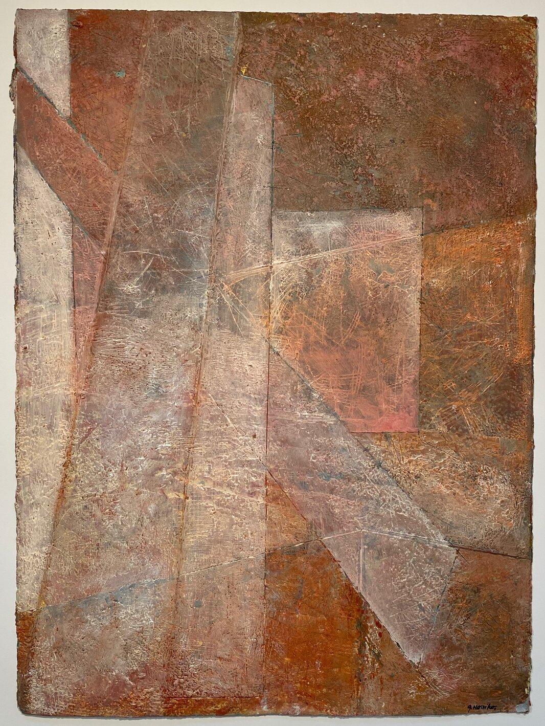 arctic shards iv encaustic on paper 30x22