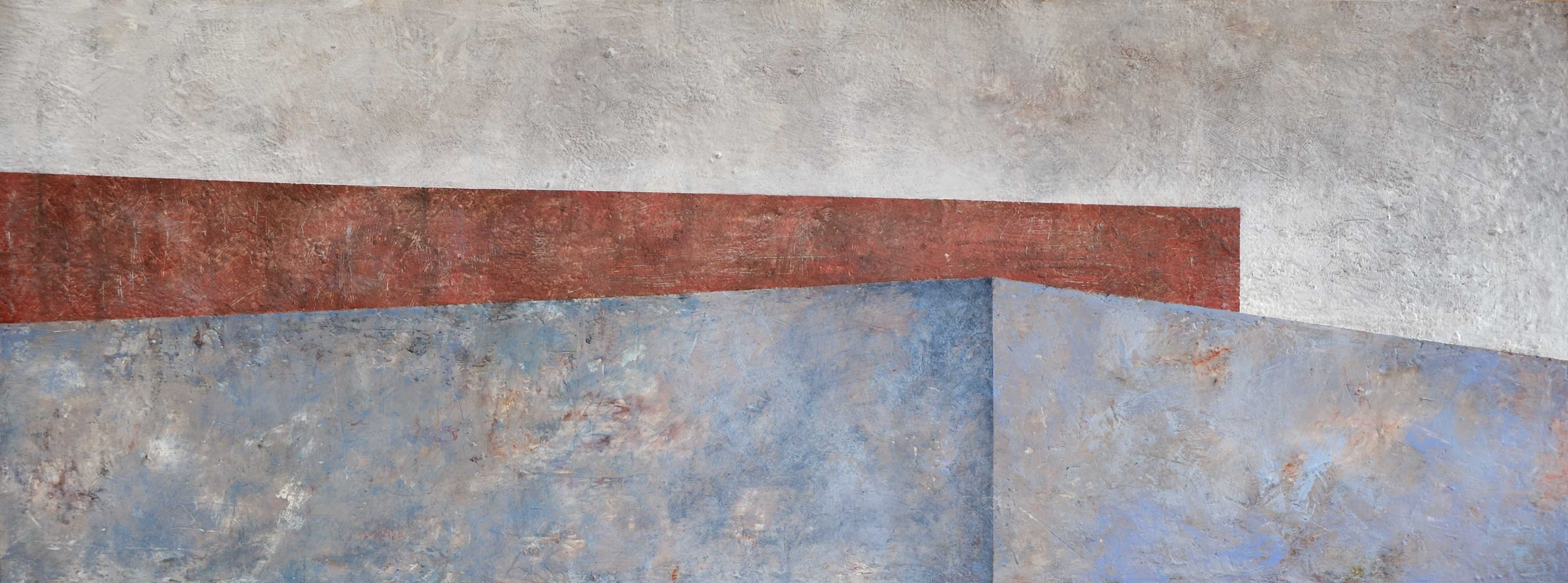 A Longing For Balance - Georgia Nassikas - encaustic on gallery board 30x80