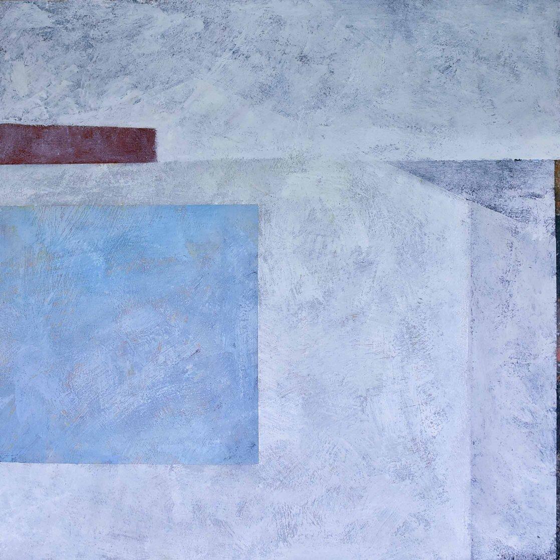 Open Blue encaustic on panel 36x36