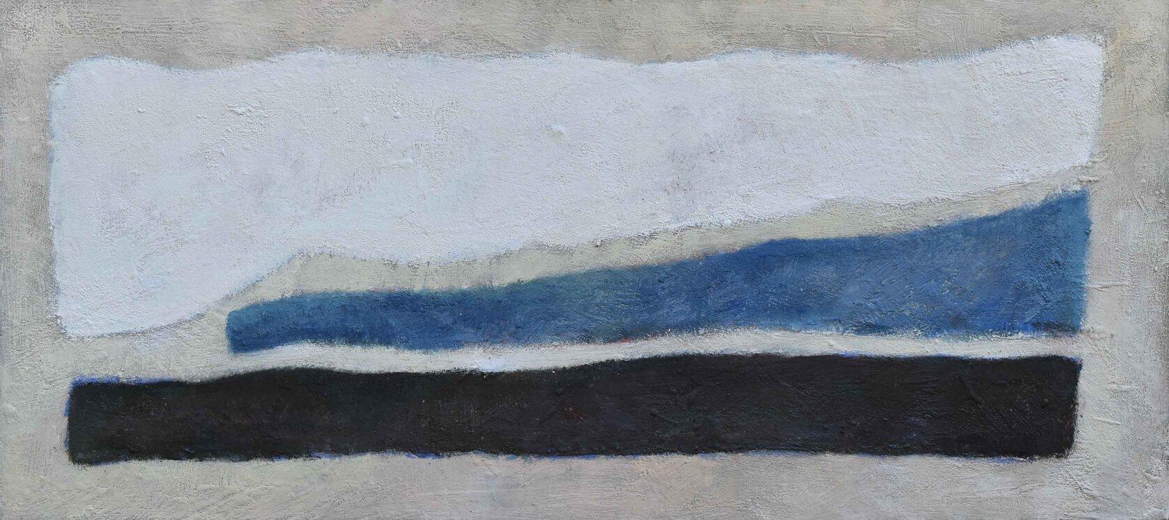 The Coast encaustic on birch board18x40